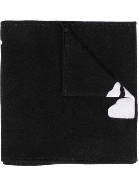 Czarny szalik wełniany Off-white