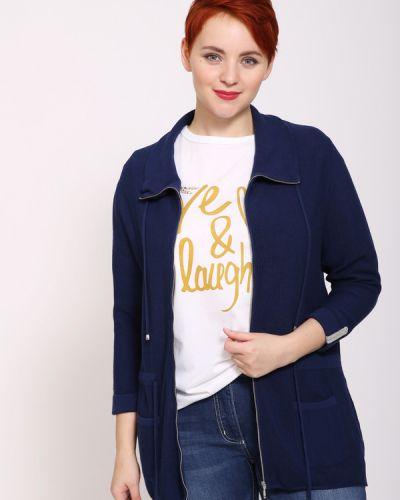 Синий пиджак с воротником на молнии Pezzo