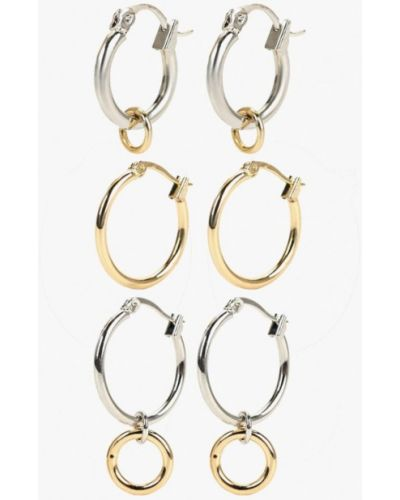 Серьги-кольца золотые набор Cheap Monday