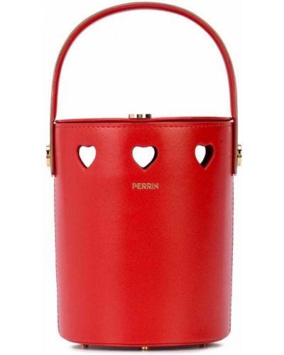Красная маленькая сумка Perrin Paris