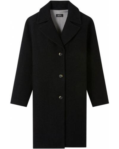 Czarny płaszcz A.p.c.