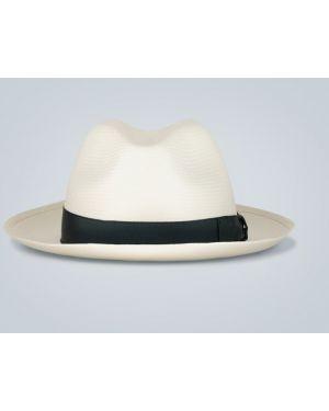 Шляпа с широкими полями соломенная с логотипом Borsalino
