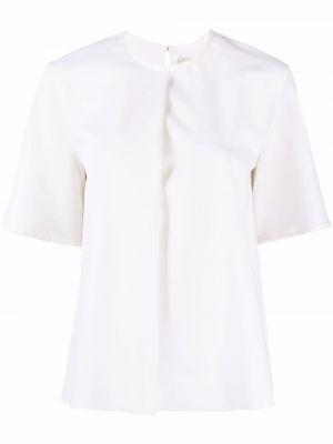 Белая футболка с вырезом с короткими рукавами Maison Rabih Kayrouz
