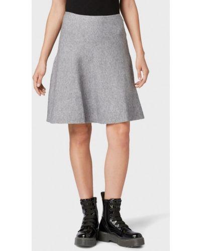 Джинсовая юбка широкая серая Tom Tailor Denim