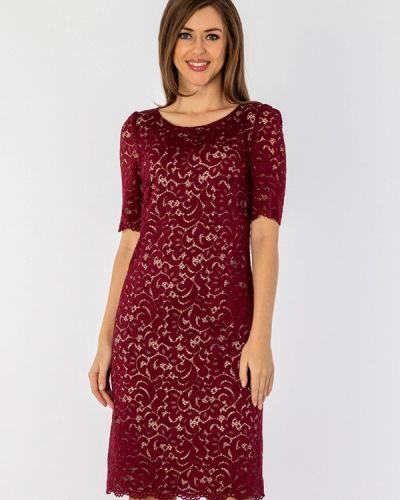 Платье миди бордовый красный S&a Style