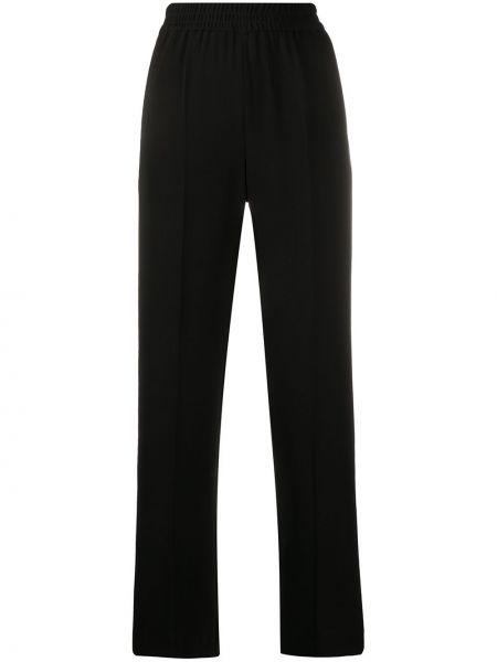 Черные прямые брюки с воротником с карманами Alberto Biani