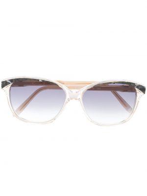 Złote okulary khaki pozłacane Yves Saint Laurent Pre-owned
