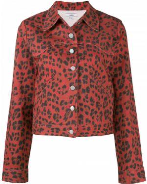 Красная джинсовая куртка на пуговицах Miaou