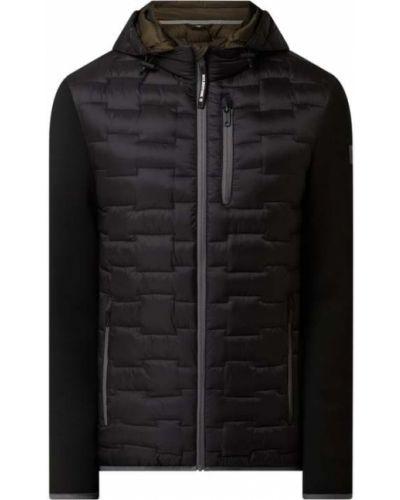 Czarna kurtka pikowana z kapturem Milestone