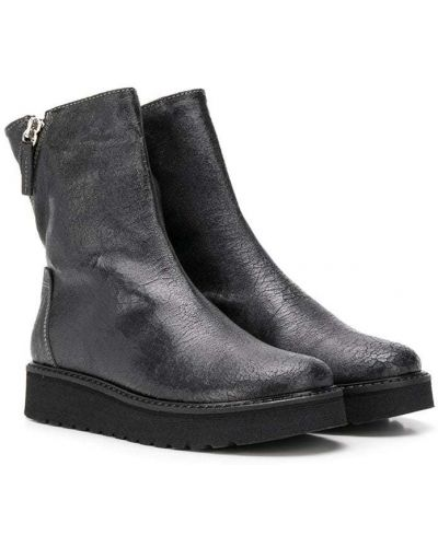Черные кожаные кожаные ботильоны на молнии Cinzia Araia Kids