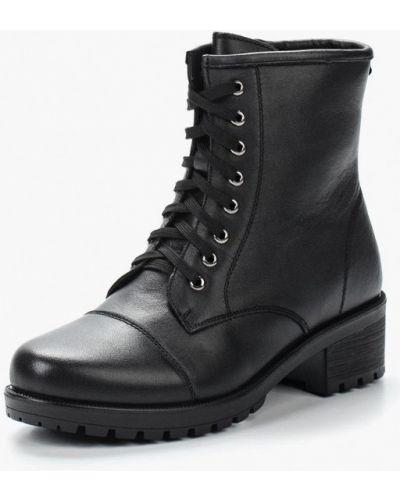 Кожаные ботинки осенние высокие Zenden Collection