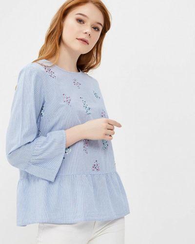 Голубая блузка с рюшами S.oliver