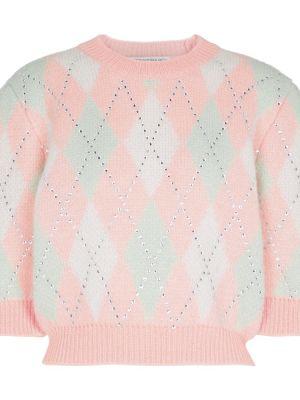 Розовая свитер классическая Alessandra Rich