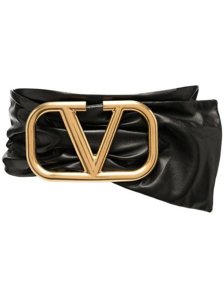 Золотистый черный ремень металлический Valentino Garavani