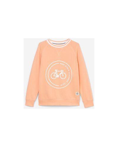 Pomarańczowa bluza bawełniana z raglanowymi rękawami Marc O Polo