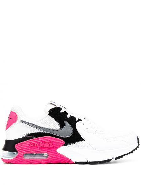 Skórzane sneakersy z logo białe Nike