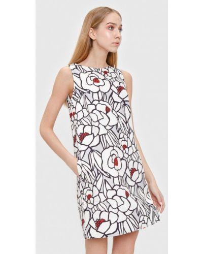 Платье серое прямое Bizzarro