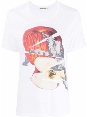 Белая футболка с круглым вырезом Undercover
