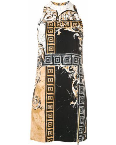 Платье с принтом - черное Versace Collection