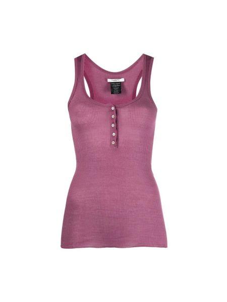 T-shirt w paski - fioletowa Isabel Marant Etoile