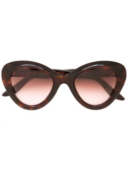 Прямые муслиновые солнцезащитные очки хаки Lapima