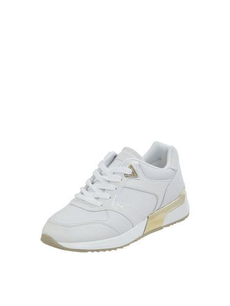 Wbudowany biały włókienniczy sneakersy z logo Guess