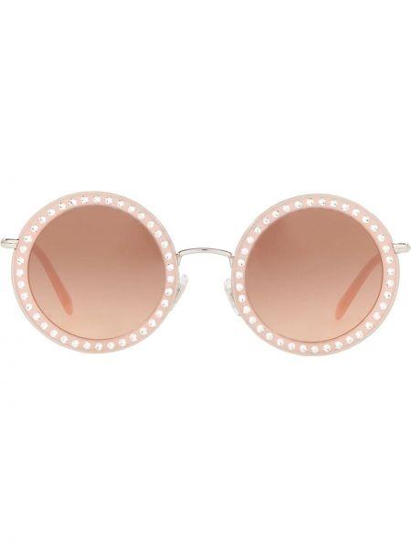 Okulary przeciwsłoneczne dla wzroku okrągły szkło Miu Miu Eyewear