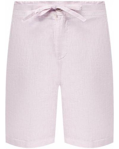 Льняные шорты - розовые 120% Lino