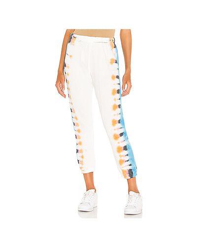 Спортивные хлопковые белые спортивные брюки эластичные Michael Lauren