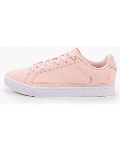 Розовые кожаные кеды Anta