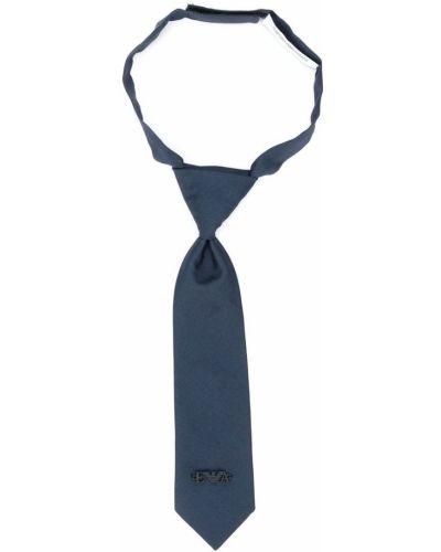 Синий шелковый галстук Emporio Armani Kids