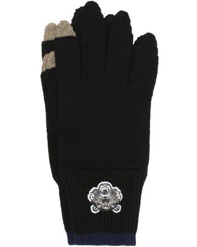 Черные перчатки шерстяные Kenzo