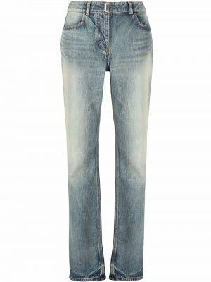 Синие джинсы со средней посадкой Givenchy