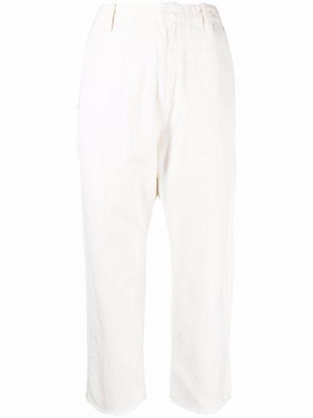 Белые укороченные брюки Nili Lotan