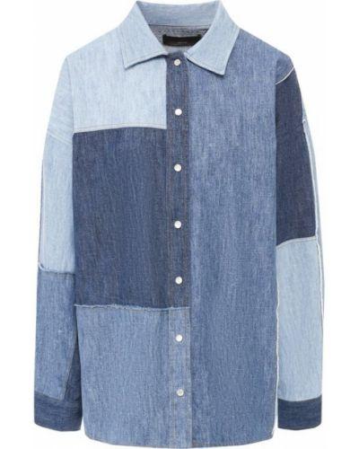 Джинсовая рубашка хлопковая пэчворк Dolce & Gabbana
