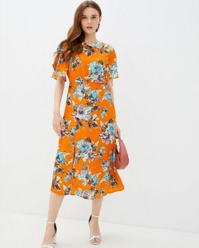 Оранжевое повседневное платье Zibi London