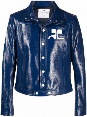 Niebieska kurtka bawełniana Courreges