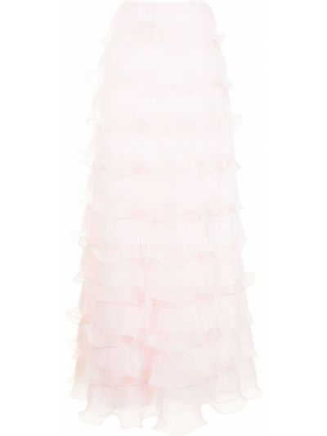 Юбка с оборками - розовая Giambattista Valli