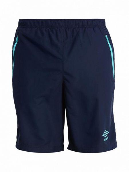 Спортивные синие спортивные шорты Umbro