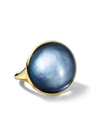 С ониксом кольцо золотое с жемчугом Ippolita
