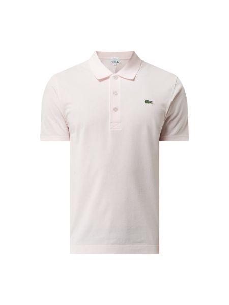 Różowy koszulka sportowa bawełniany Lacoste