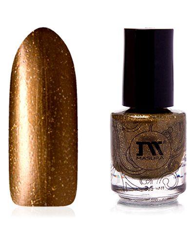 Лак для ногтей золотого цвета Masura