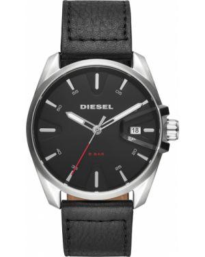 Zegarek srebrny czarny Diesel