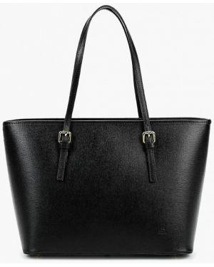 Кожаная сумка черная итальянский Roberto Buono