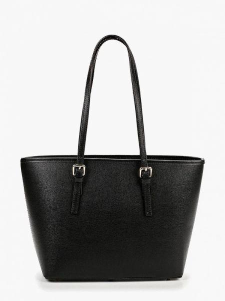 Кожаная сумка черная итальянский Roberta Rossi