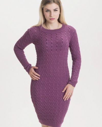 Платье осеннее фиолетовый Nataclub
