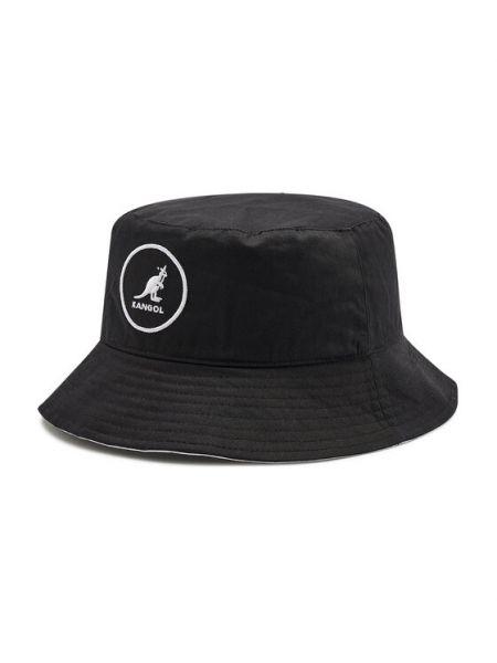 Czarny kapelusz bawełniany Kangol