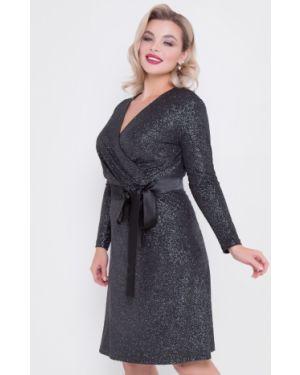 Платье с поясом с запахом платье-сарафан тм леди агата