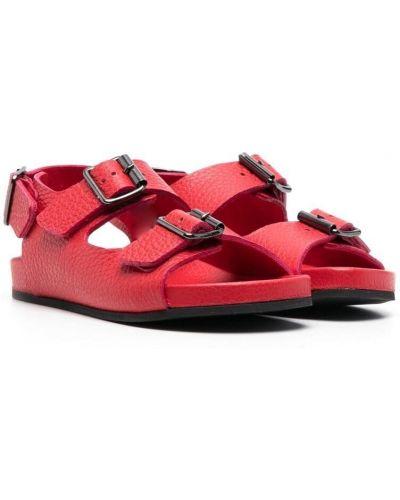 Sandały skorzane klamry peep toe Gallucci Kids