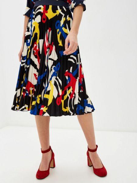 Платье плиссированное черное United Colors Of Benetton